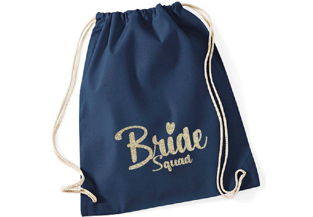 Glitzer Bügelbild Bride Squad oder Bride - 4