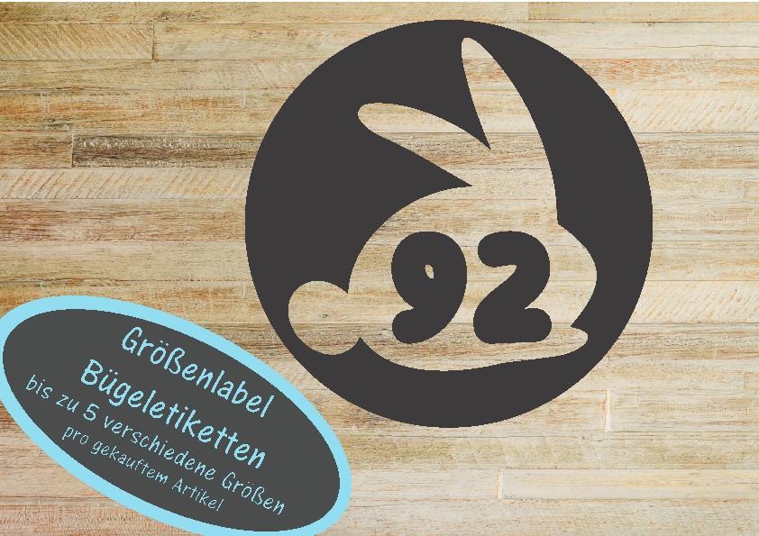 25 Groessenlabel Groessenetiketten Hase