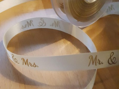 Dekoband Mr. and Mrs. 15mm Geschenkband Hochzeit Wedding Satinband