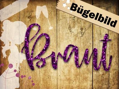 Glitzer Bügelbild/ Iron on Braut oder nicht die Braut