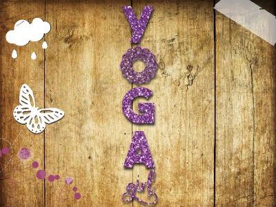 Glitzer Buegelbild Yoga girl Namaste