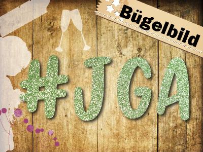 Glitzer Buegelbild JGA