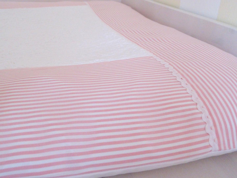 Aufbewahrungstasche Betttasche rosa weiß 4