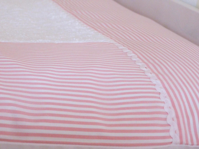 Wickelauflagenbezug Streifen rosa 3