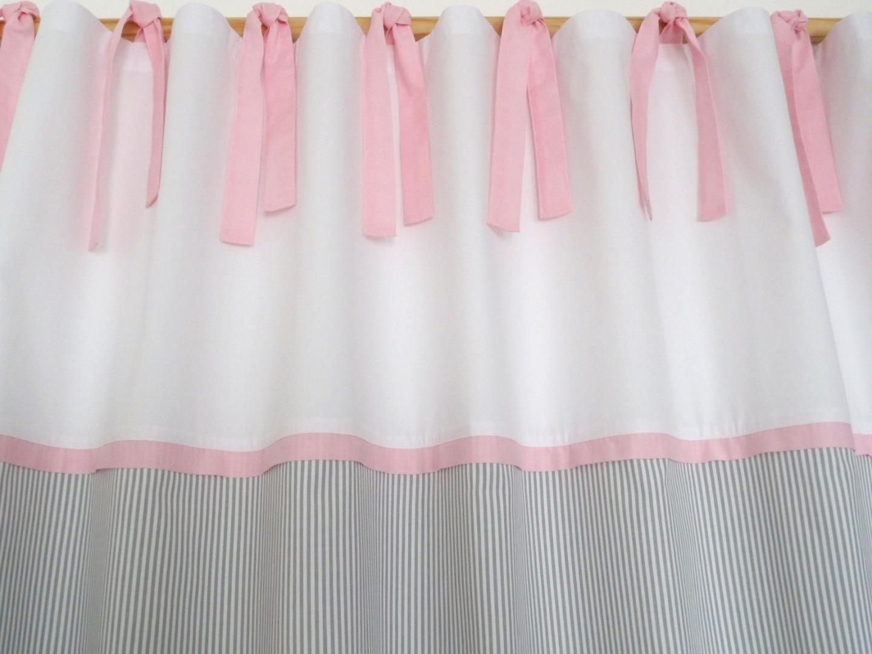 2 Vorhange Grau Rosa Fur Kinderzimmer Klassisch Schon Le Petit