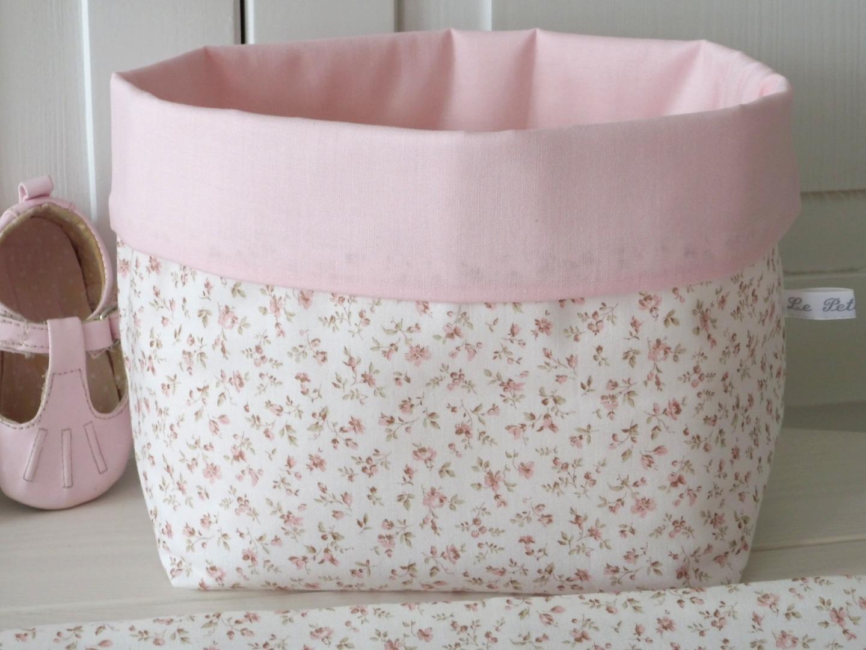 Utensilo Stoffkörbchen Millefleurs beige rosa