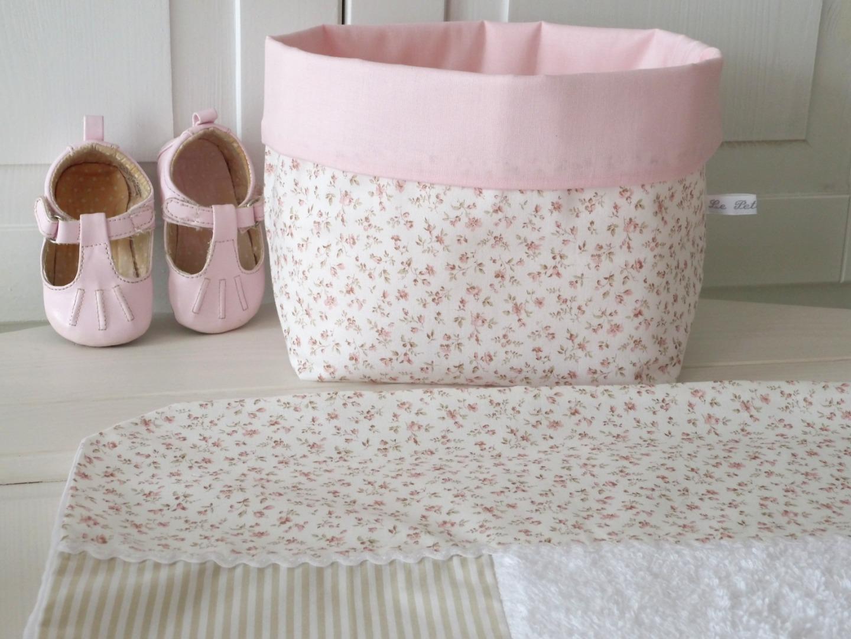 Wickelauflagenbezug Millefleurs beige rosa 5