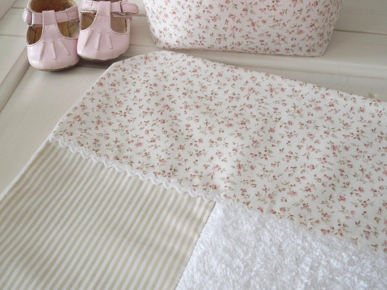 Wickelauflagenbezug Millefleurs beige rosa