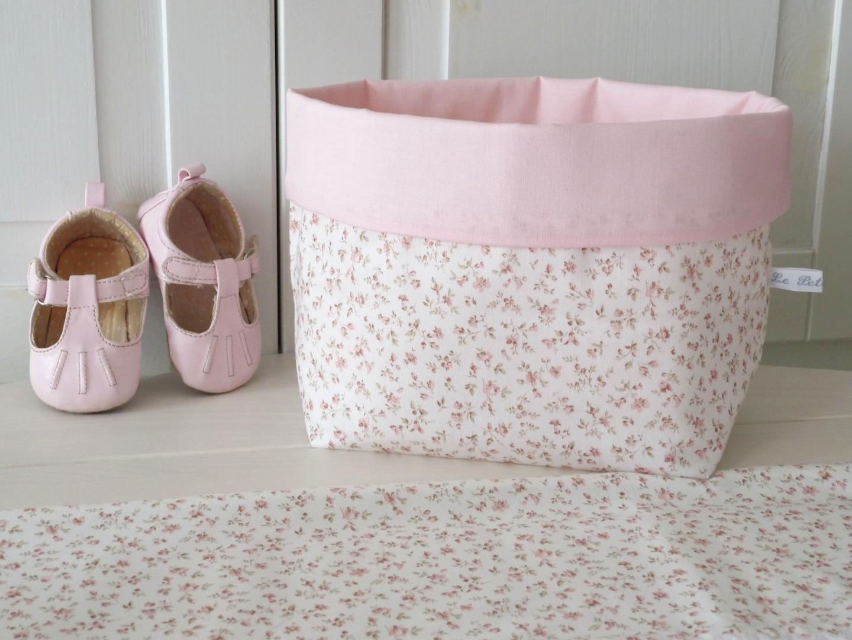 Utensilo Stoffkörbchen Millefleurs beige rosa 2