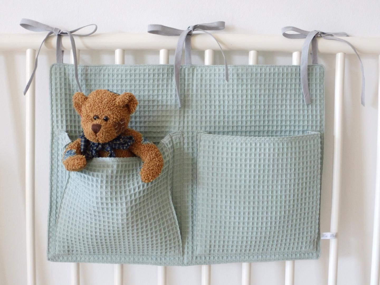 Aufbewahrungstasche Betttasche altgrün 4