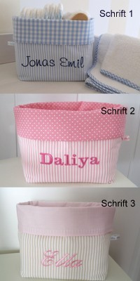 Aufbewahrungstasche Betttasche rosa weiß 6