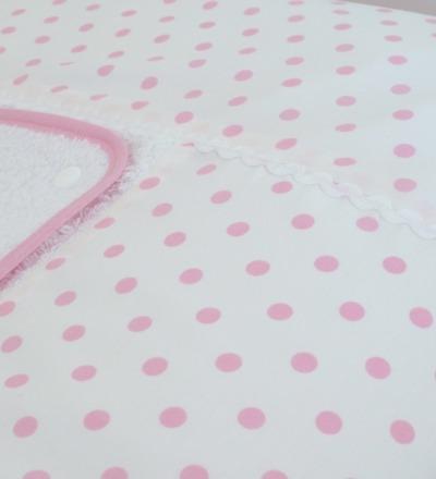 Wickelauflagenbezug rosa Punkte Individuelle Größen nach