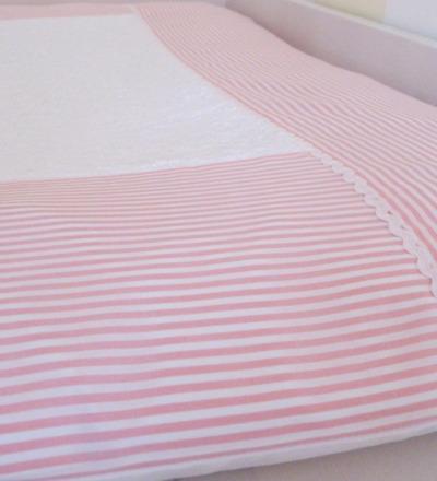 Wickelauflagenbezug Streifen rosa Vichy Streifen rosa