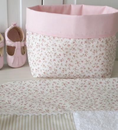 Utensilo Stoffkörbchen Millefleurs beige rosa Auf