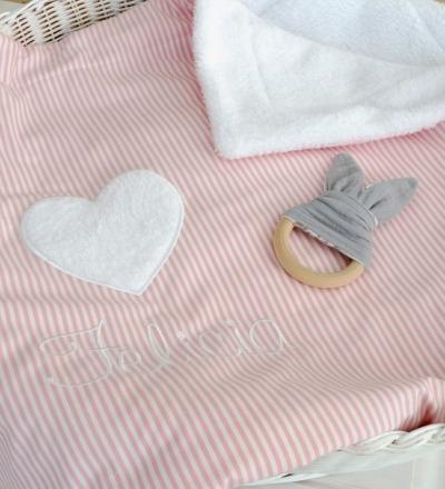 Babydecke mit Namen - Kuschelig weich