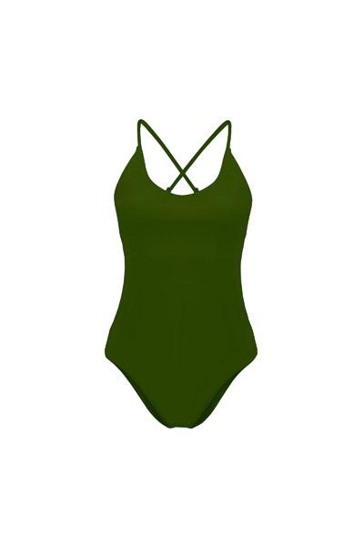 Recycling Badeanzug Fr ya oliv 2