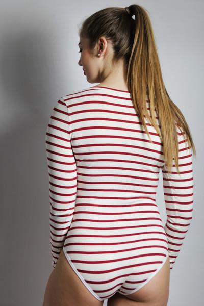 Bio Body & 39Langli& 39 weiß/ rote Streifen