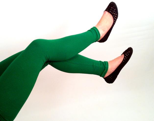 Bio Leggings uni grün