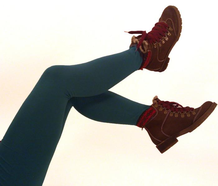 Bio Leggings uni rauchblau