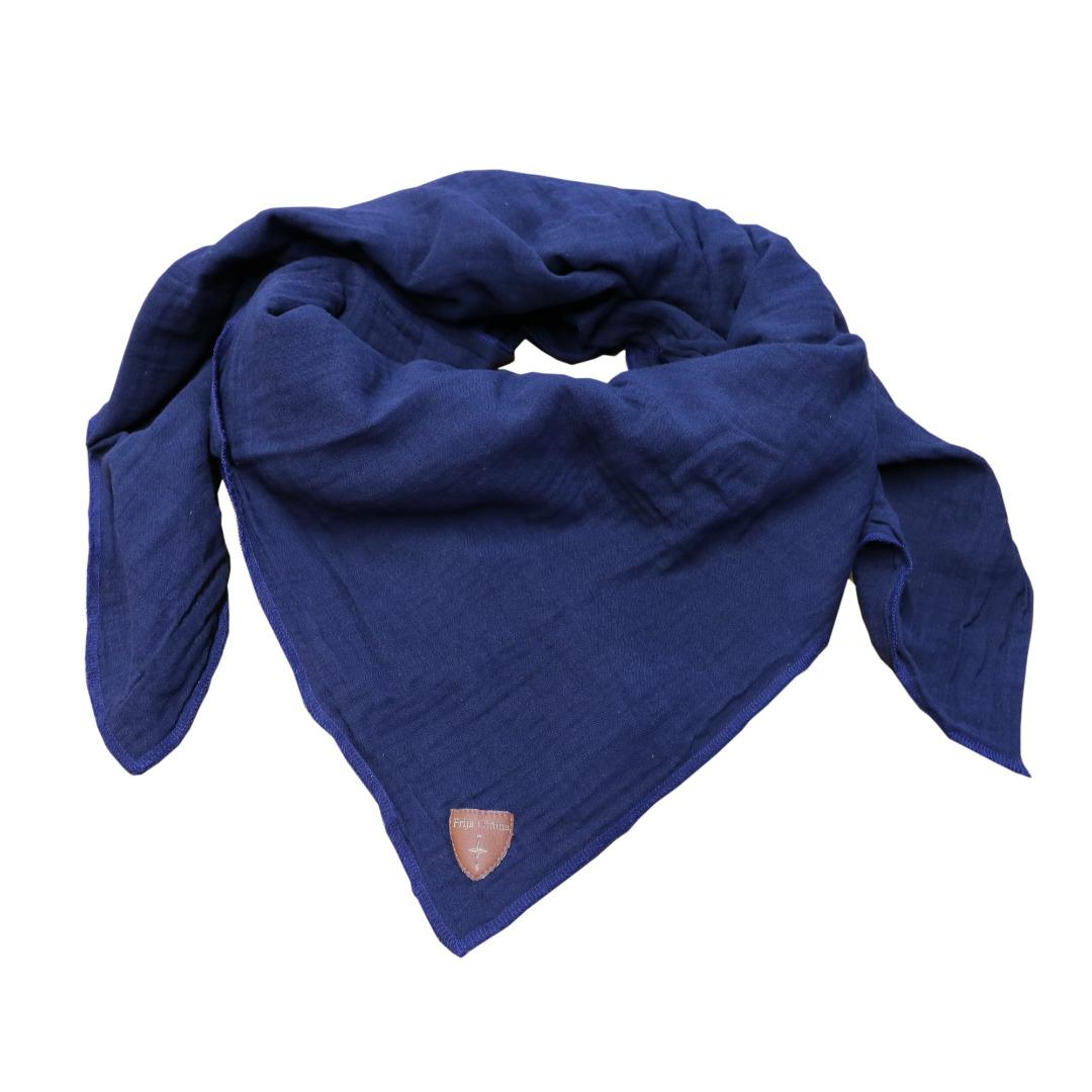 Musselin-Cloth/ Mull-Bandanna Skarna dark blue