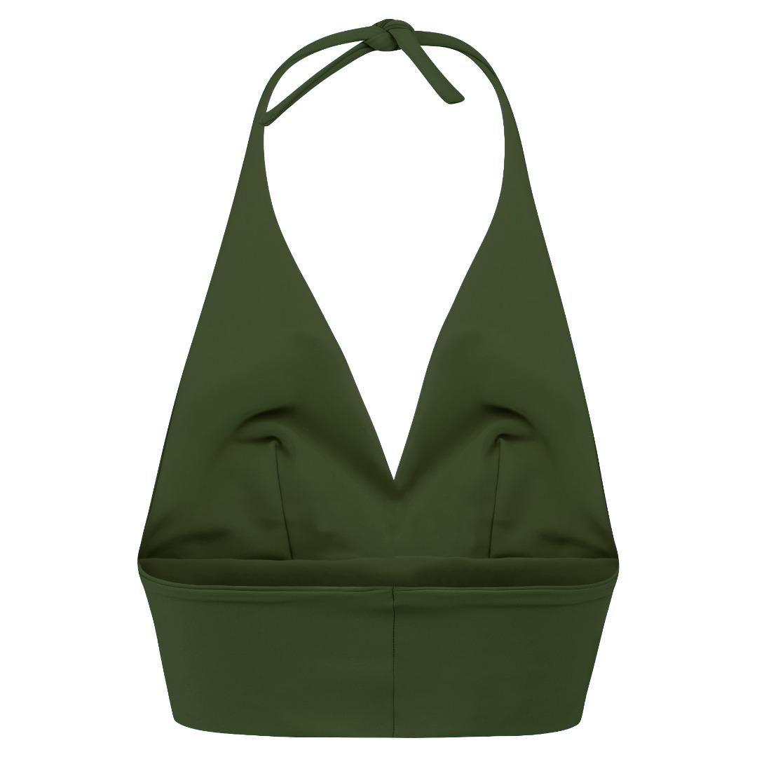 Recycling bikini top Fjordella olive 2
