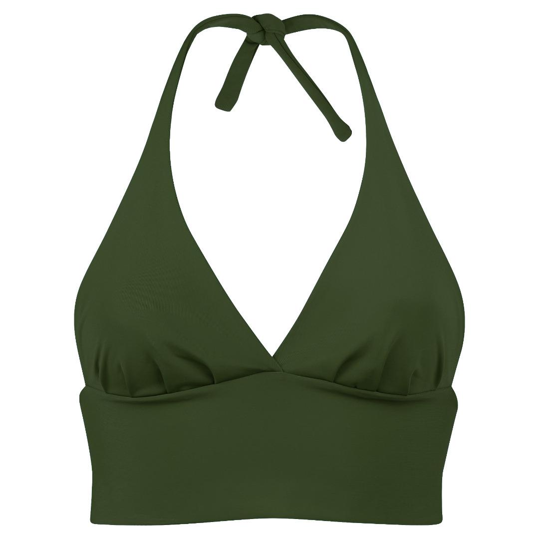 Recycling bikini top Fjordella olive