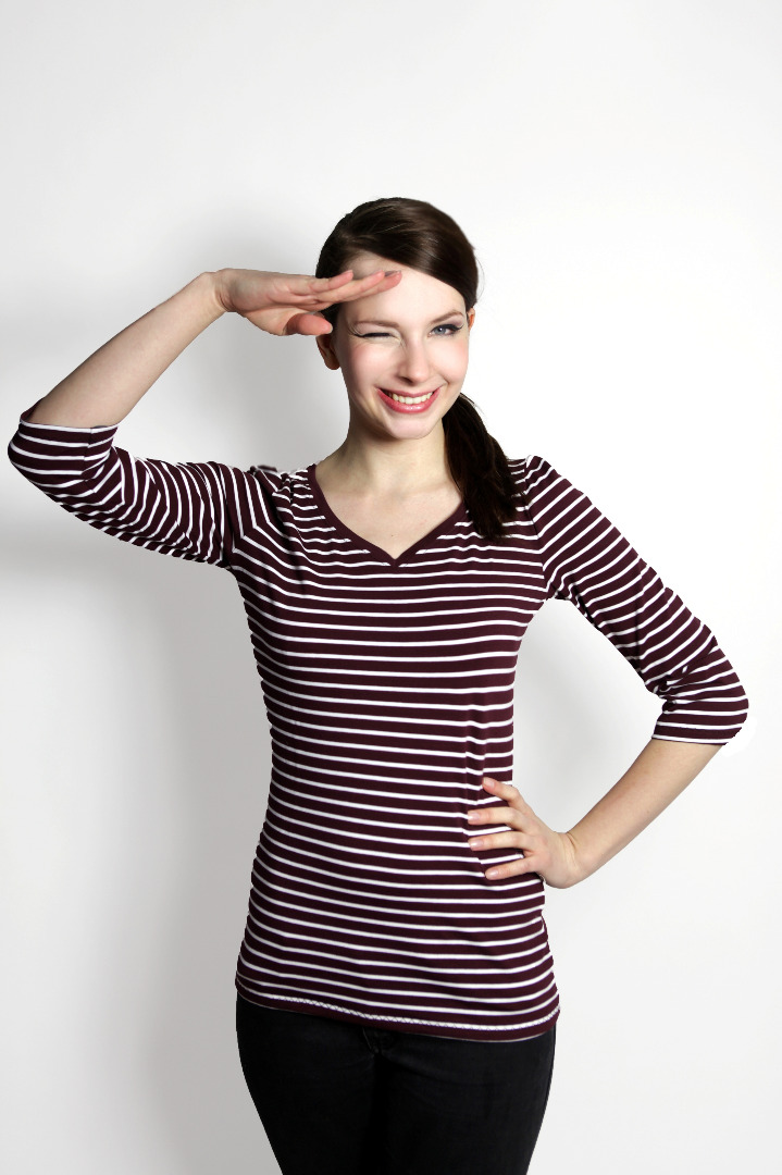 Bio 3/4 Arm- Shirt Winda aubergine