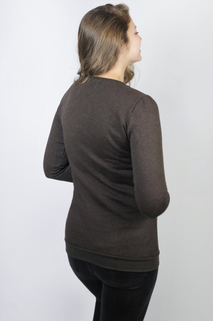 Organic jumper Uno tinged in brown