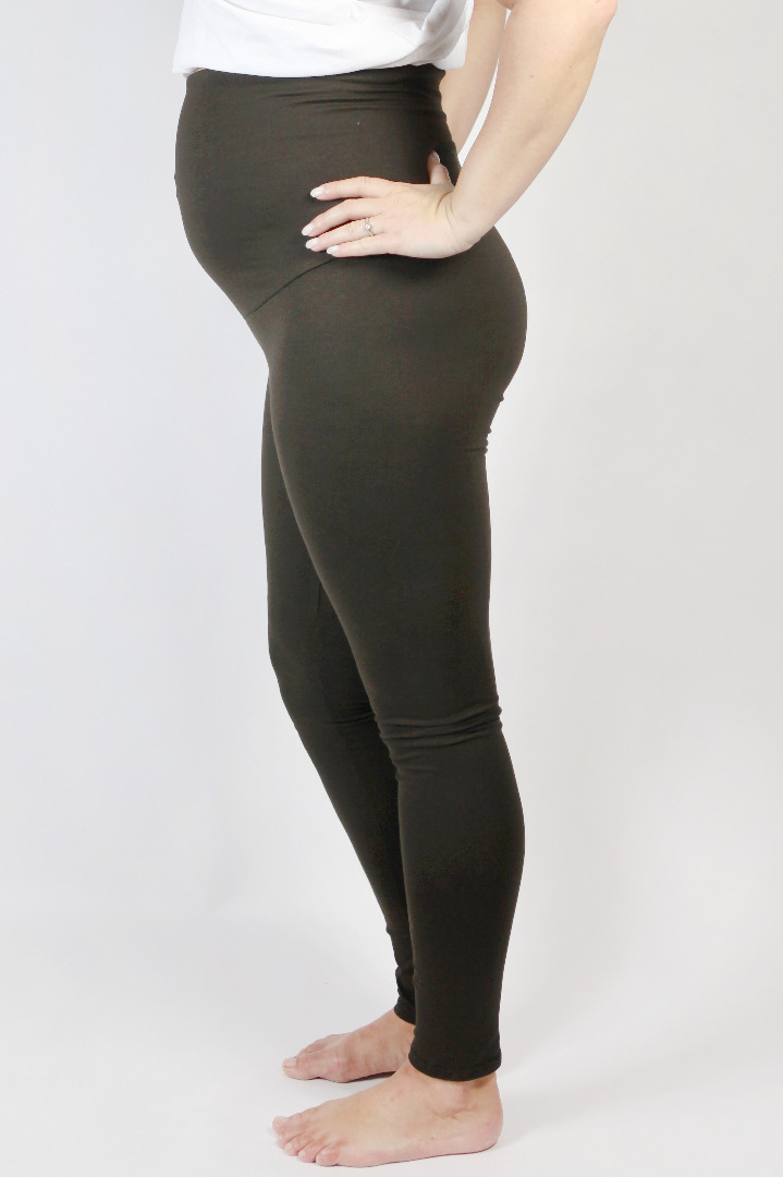 Bio Leggings Mama braun 2