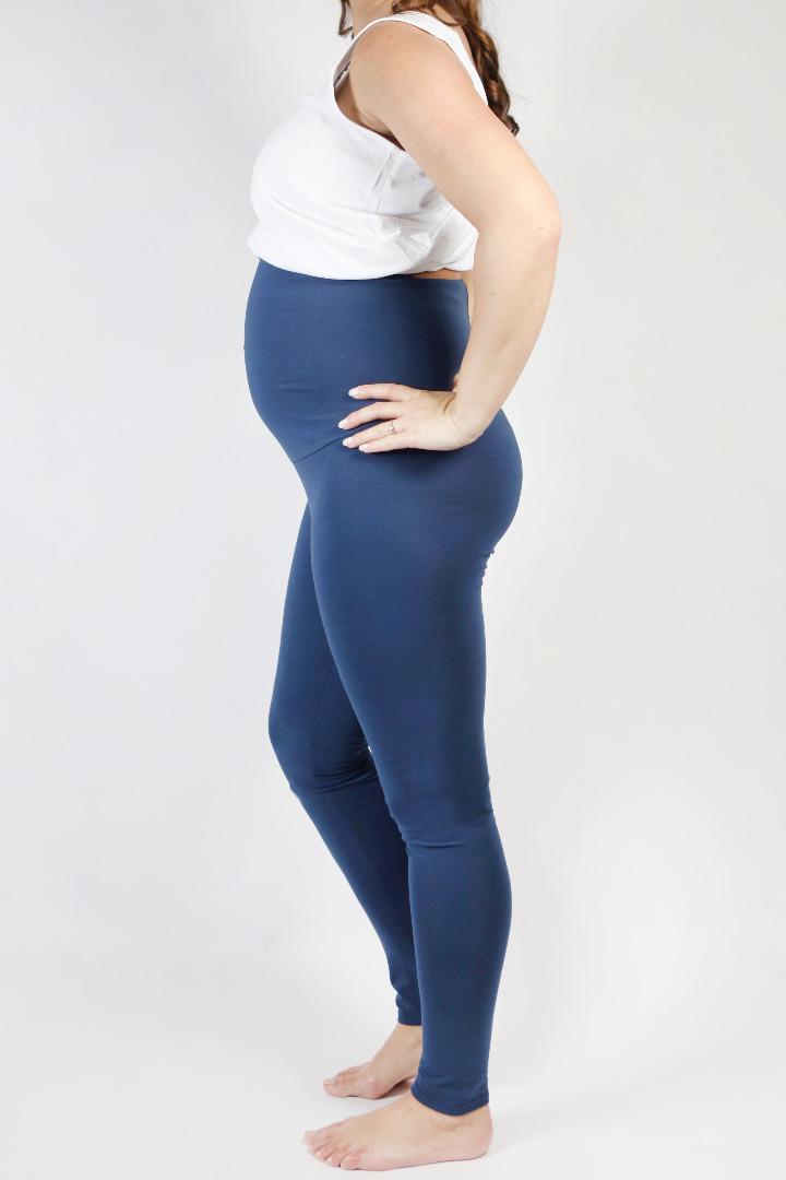 Organic leggings Mama indigo 2