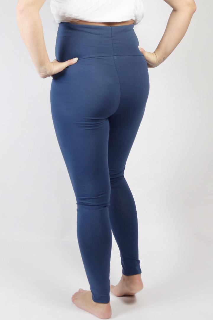Organic leggings Mama indigo 3