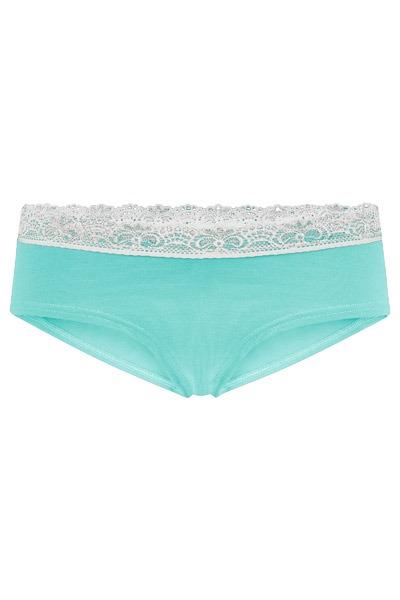 Organic hipster panties Spitze mint