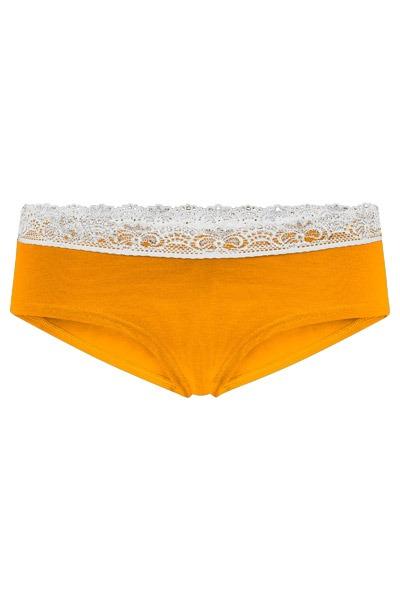 Organic hipster panties Spitze saffron
