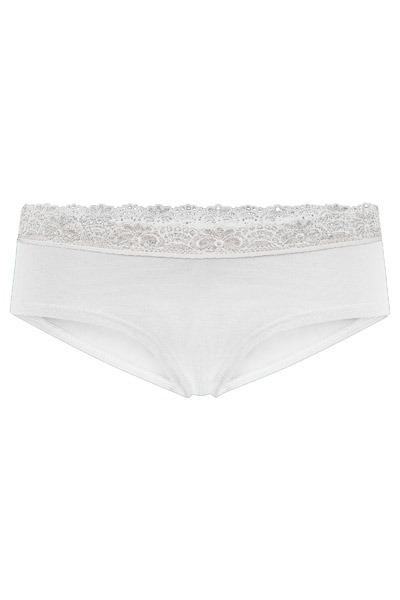 Organic hipster panties Spitze white
