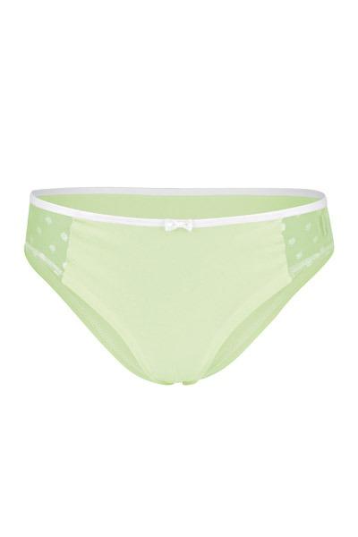 Organic hipster panties Lorelow matcha green