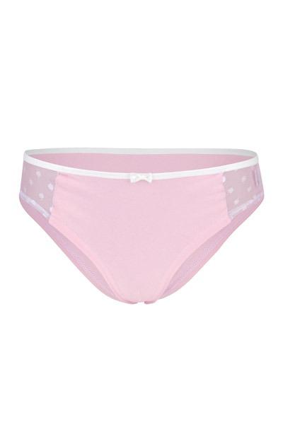 Organic hipster panties Lorelow light pink