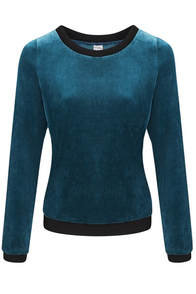 Organic jumper Onne blue / black