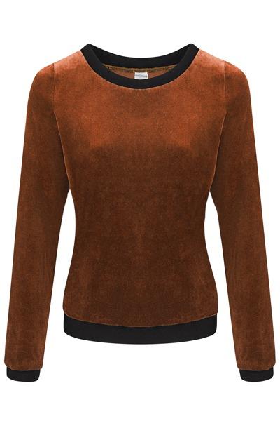 Organic jumper Onne brown/ black