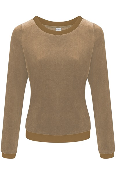 Organic jumper Onne taupe / taupe