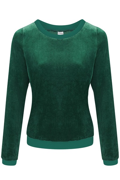 Organic jumper Onne smaragd /teal