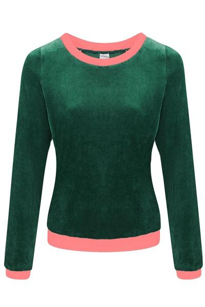 Bio Nicki Pullover Onne smaragd /rosa