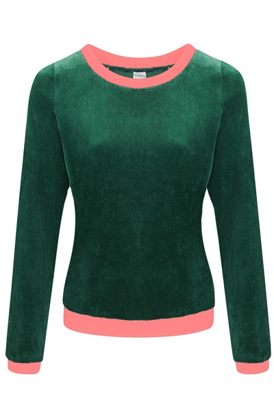 Organic jumper Onne smaragd light pink