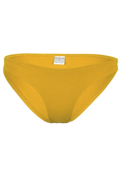Organic briefs saffron yellow