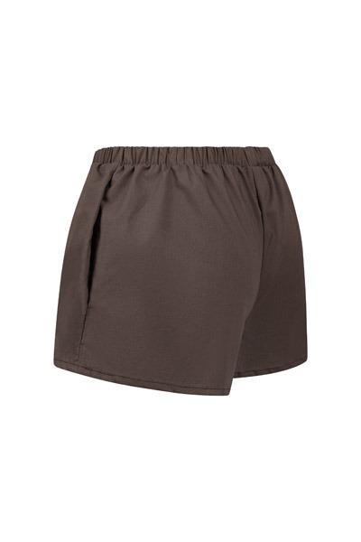 Organic women s shorts Smilla anthracite