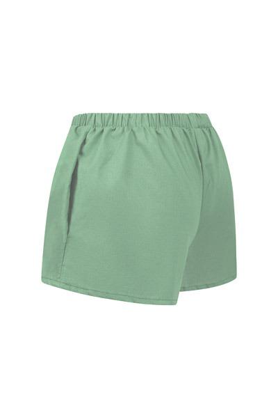 Organic women s shorts Smilla celadon