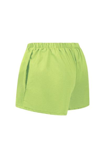 Organic women s shorts Smilla pastel green