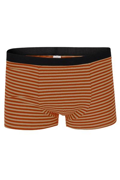 Organic men s trunk boxer shorts sandy rust