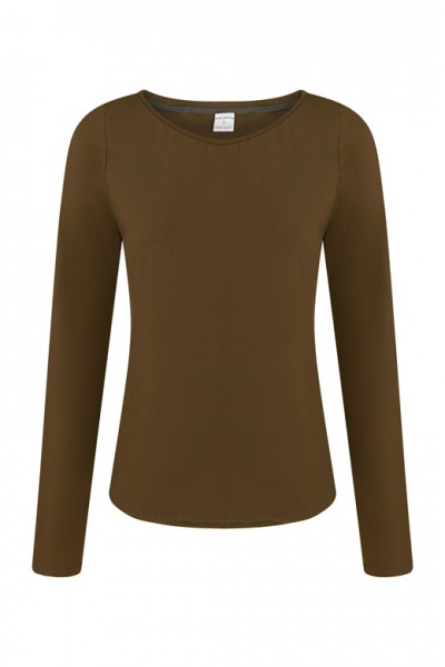 Organic long sleeve Ubu brown