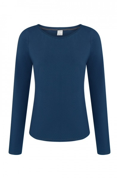 Organic long sleeve Ubu blue