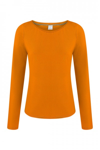 Organic long sleeve Ubu orange